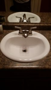 clean sink after photo