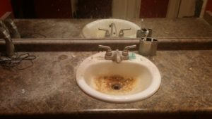 dirty sink before image