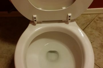 toliet after