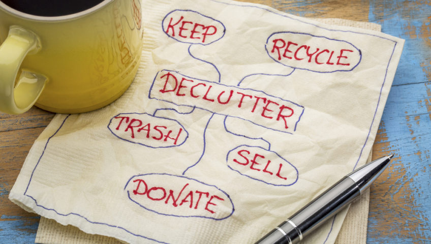 A decluttering plan is a great first step toward home organization!